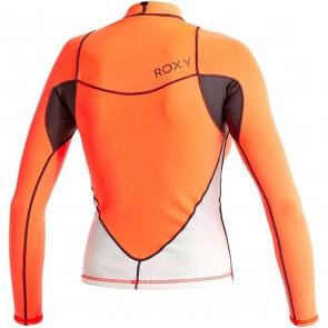Roxy Women's Syncro 1mm Long Sleeve Jacket - Graphite/Peach