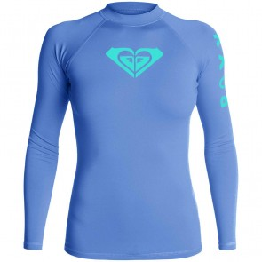 Roxy Women's Whole Hearted Long Sleeve Rash Guard - Chambray