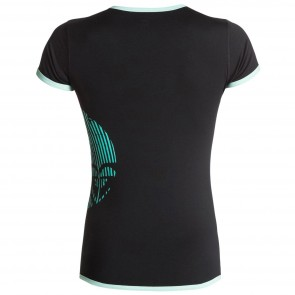 Roxy Women's Sunset Short Sleeve Rash Guard - Black