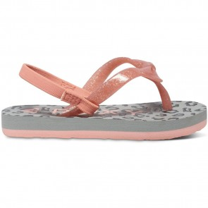Roxy Youth Fifi Flip Flops - Grey Heather