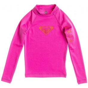 Roxy Wetsuits Toddler Love Long Sleeve Rash Guard - Paradise Pink