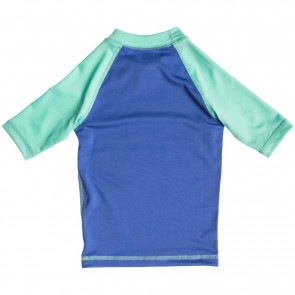 Roxy Wetsuits Toddler Sail Away Short Sleeve Rash Guard - Chambray/Sea Foam
