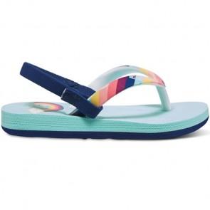 Roxy Youth Girls Pebbles Sandals - Rainbow