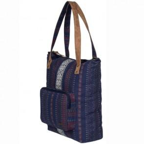 Roxy Women's Come Let Go Tote Bag - Sayra Blue Print