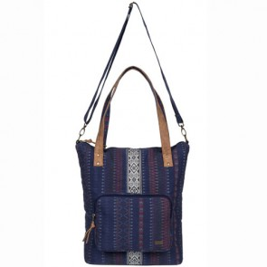 Roxy Women's Come Let Go Tote Bag - Sayra Blue Print