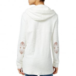 Roxy Women's Pearling Poncho Hoodie - Marshmallow