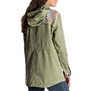 Roxy Women's Sultanis Military Jacket - Oil Green