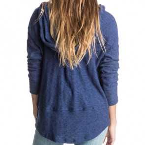 Roxy Women's Good Vibrations Hooded Top - Blue Print