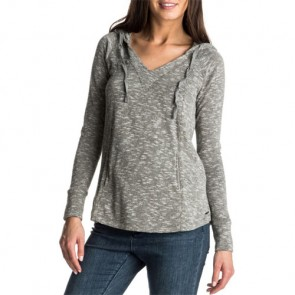 Roxy Women's Wasted Time Hooded Top - Charcoal Heather