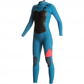 Roxy Women's Performance 4/3 Chest Zip Wetsuit - Legion Blue