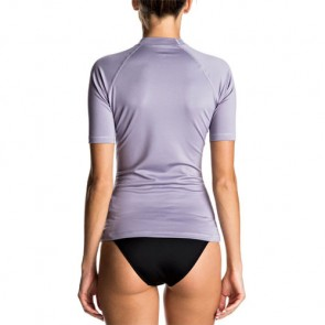 Roxy Women's Whole Hearted Short Sleeve Rash Guard - Dusk