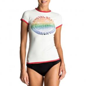 Roxy Women's Sunset Short Sleeve Rash Guard - Marshmellow