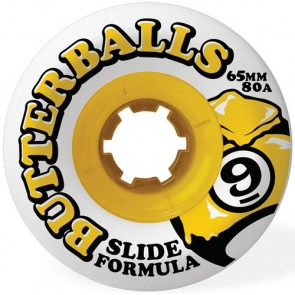 Sector 9 65mm Butterballs Wheels - White
