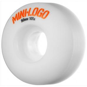 Mini Logo 50mm C-Cut Wheels - White