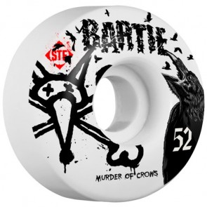 Bones 52mm STF Pro Bartie Crow Wheels - White