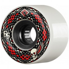 Powell Peralta 66mm SSF Snakes Wheels - White