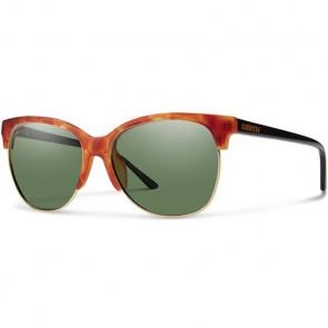 Smith Women's Rebel Polarized Sunglasses - Matte Honey Tortoise/ChromaPop Grey Green