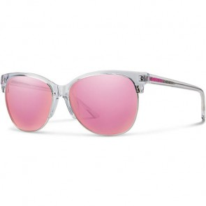 Smith Women's Rebel Sunglasses - Crystal/Pink Mirror