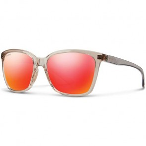 Smith Women's Colette Polarized Sunglasses - Desert Crystal Smoke/ChromaPop Sun Red Mirror