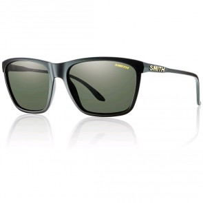 Smith Delano Polarized Sunglasses - Matte Black/Grey Green