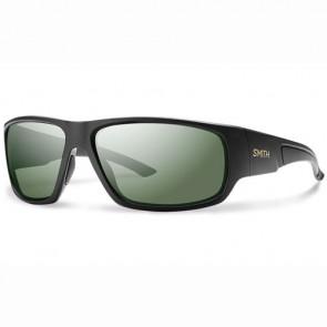 Smith Discord Polarized Sunglasses - Matte Black/Grey Green