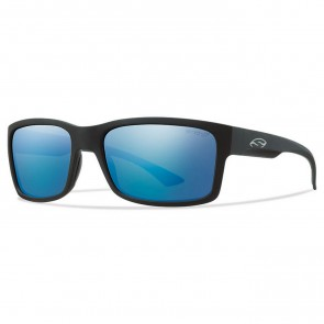 Smith Dolen Polarized Sunglasses -Matte Black/Chromapop Blue Mirror