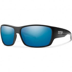 Smith Frontman Polarized Sunglasses - Matte Black/Chromapop Blue Mirror