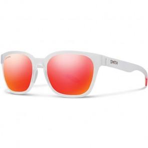 Smith Polarized Founder Slim Sunglasses - Matte Crystal Red/Chromapop Sun Red Mirror