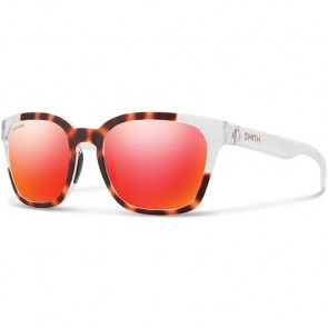 Smith Founder Slim Polarized Sunglasses - Matte Tortoise Crystal Block/Chromapop Sun Red Mirror