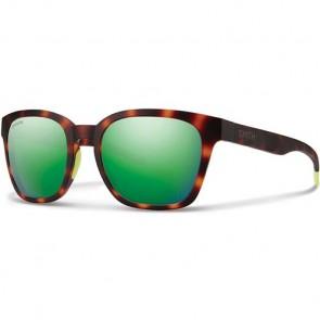 Smith Founder Slim Polarized Sunglasses - Matte Tortoise Neon/Chromapop Sun Green Mirror