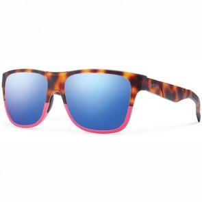 Smith Lowdown Sunglasses - Matte Tortoise Shocking Pink/Blue Flash Mirror