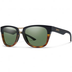 Smith Landmark Sunglasses - Matte Black Fade Tortoise/Grey Green