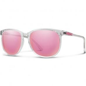 Smith Women's Mt. Shasta Sunglasses - Crystal/Pink Mirror