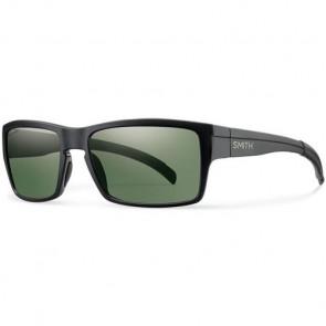 Smith Outlier Polarized Sunglasses - Matte Black/ChromaPop Grey Green