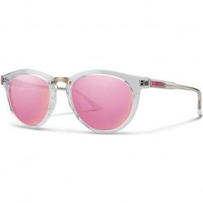 Smith Questa Sunglasses - Crystal/Pink MIrror