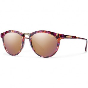 Smith Women's Questa Sunglasses - Flecked Mulberry Tortoise/Rose Gold Mirror