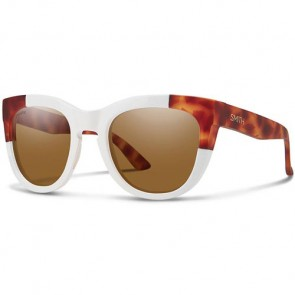 Smith Women's Sidney Polarized Sunglasses - White Honey Tortoise Block/ChromaPop Brown