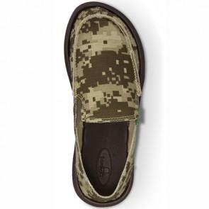 Sanuk Youth Vagabond Shoes - Brown Digi Camo