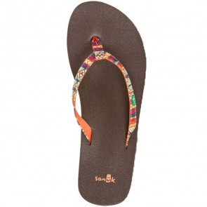Sanuk Women's Yoga Joy Funk Sandals - Olive/Tribal Stripe