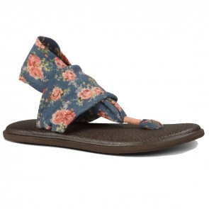 Sanuk Women's Yoga Sling 2 Prints - Chambray Floral