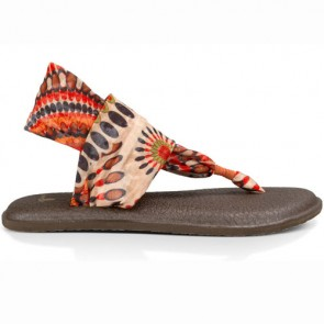 Sanuk Women's Yoga Sling 2 Prints Sandals - Melon Pinwheel