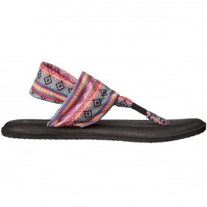 Sanuk Women's Yoga Sling 2 Prints Sandals - Magenta/Tribal Stripe