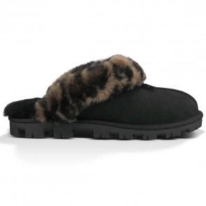 UGG Australia Coquette Leopard Slippers - Black