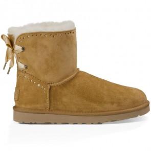 UGG Australia Dixi Flora Perf Boots - Chestnut