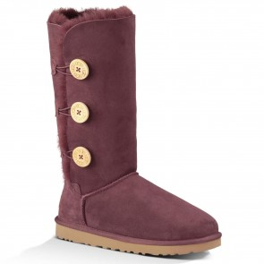 UGG Australia Bailey Button Triplet Boots - Port