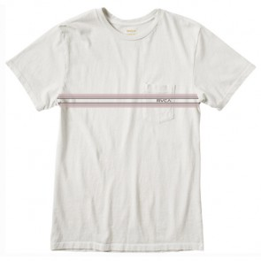RVCA Pocket Stripe T-Shirt - Silver Bleach