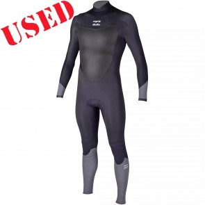 USED Billabong Absolute Comp 4/3 Chest Zip Wetsuit - Size MT