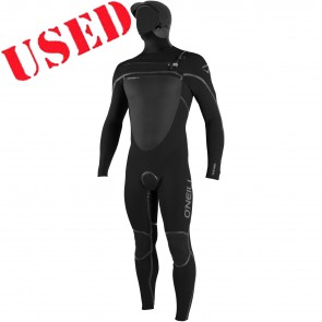 USED O'Neill Psycho Tech 4/3 Hooded Wetsuit - Size LS