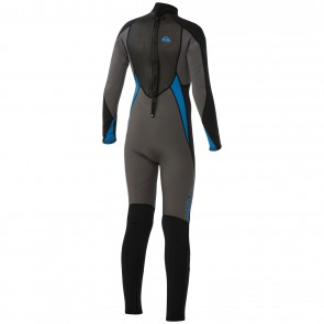 USED Quiksilver Youth Syncro 5/4/3 Back Zip Wetsuit - Size 14
