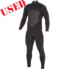 USED Quiksilver AG47 Performance 4/3 Chest Zip Wetsuit - Size L